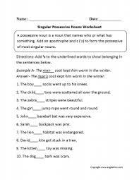 Best Ideas Of Singular And Plural Possessive Nouns Worksheets