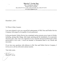 letter expressing concern testimonials perfect services llc