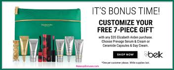 receive your choice of 7 pc gift with your 35 elizabeth arden purchase