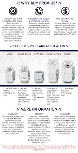 Wheel Lug Nut Size Chart
