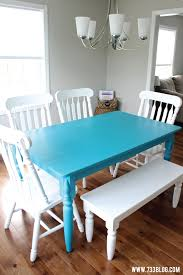 painting for dining room. Americana Decor Chalky Finish Painted Dining Room Table Painting For
