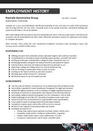 Automotive Technician Resume Car Technician Resume Sample Unique Automotive Auto Mechanic Job 29