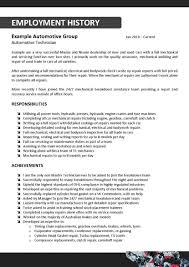 Automotive Technician Resume Car Technician Resume Sample Unique Automotive Auto Mechanic Job 29