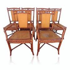chippendale dining chairs. Image Is Loading Vtg-Set-Six-Tortoise-Shell-Cane-Fretwork-Dining- Chippendale Dining Chairs