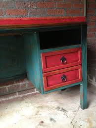 shabby chic red furniture. eclectic aqua and red shabby chic desk hand painted with chalk paint stained sanded for furniture i