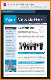 Examples Of Company Newsletters 7 Company Newsletter Templates Letter Flat
