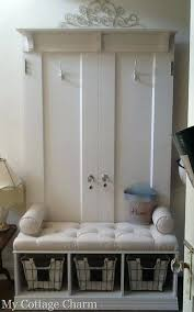 Coat Rack With Bench Seat Coat Rack With Bench And Storage My Cottage Charm How To Build A 33