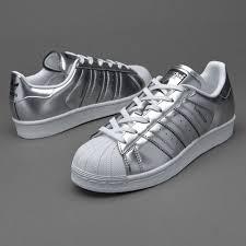 adidas shoes superstar silver. adidas originals womens superstar - silver met shoes s