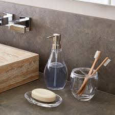 clear glass bathroom accessories. umbra droplet acrylic countertop bathroom set clear glass accessories u
