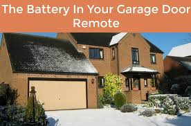when your garage door stops working one of the first things you should check is the remote control and the battery depending on how often you use your