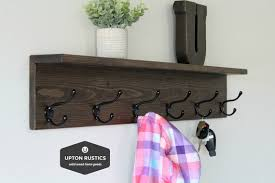 rustic coat rack shelf wall coat rack