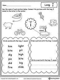 Use this colorful free printable phonics worksheet to teach your young learner about the long vowel a. Long I Sound Worksheet Vowel Worksheets Phonics Worksheets Long Vowel Worksheets
