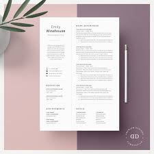 One Page Resume Templates Modern Modern One Page Resume Template Kreativ Graphic