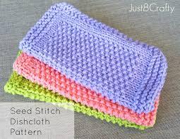Sugar And Cream Knit Dishcloth Pattern Inspiration Seed Stitch Dishcloth Pattern Free Pattern By Just Be Crafty
