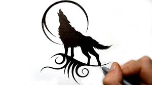 tribal wolf howling silhouette. For Tribal Wolf Howling Silhouette YouTube