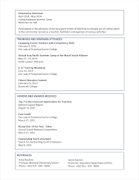 Resume Letter Sample 2 Sample Resume Format For Fresh Graduates Two
