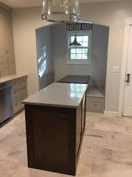 Walnut Kitchen Floor Conestoga Kitchen Island Walnut Ivetta White Porcelain Floor Tile
