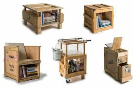 recycled materials furniture. furniture made up of used shipping crates by peveto at furm home harmonizing recycled materials r