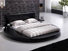 king platform bed frame japanese. Bedroom : Extraordinary Japanese Style Design Ideas With Grey Stone Wall Along Round Black King Size Bed Frame And Leather Platform F