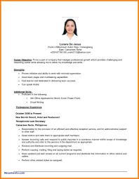 Objective For Resume Samples Of Objective On A Resume Luxury Resumes Examples Sevte 51