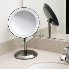 conair be50lbchw 9 black chrome freestanding led lighted vanity mirror with on off push on