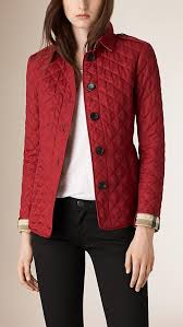 Best 25+ Quilted jacket ideas on Pinterest | Jacket sewing ... & Burberry Parade Red Diamond Quilted Jacket, size XS or S Adamdwight.com