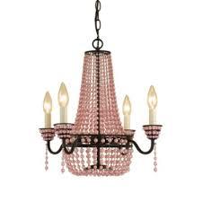 pink chandelier lighting. AF Lighting 4-Light Bronze Parlor Mini-Chandelier In Pink Chandelier
