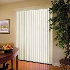 Sliding door blinds Wooden Alabaster 35 In Pvc Vertical Blind 78 In 84 In The Home Depot Alabaster 35 In Pvc Vertical Blind 78 In 84 In