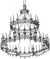 gothc clipart chandelier 8