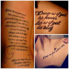 Exemple Phrase Tatouage