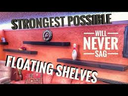 diy floating shelves no special hardware how to