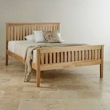 Cairo Natural Solid Oak Double Bed Bedroom Furniture - Double bedroom