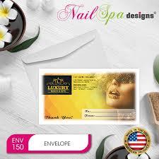 Customized Gift Certificates Nail Spa Gift Certificate Envelope Nsd Gct002