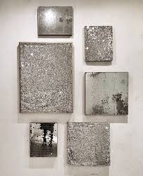 >silver wall art diy idea