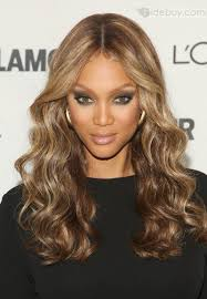 Tyra Bankss Medium Wavy Capless Wig Real Human Hair About Inches