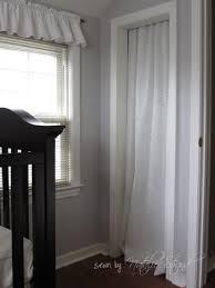 closet door ideas curtain. Nursery Projects Crib Skirt And Closet Curtain Door Ideas Instead Of Doors