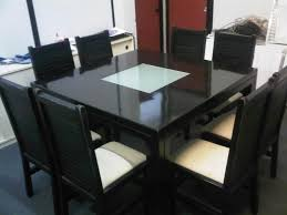 contemporary square dining room sets. dining tables, enchanting black square modern marble room table for 8 varnished ideas contemporary sets i