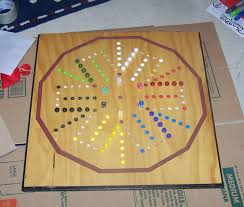Wooden Aggravation Board Game Aggravation board game with marble catch WoodDesigner 59
