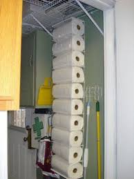 diy towel storage. DIY Paper Towel Storage : Use A Hanging Shoe Organizer! Diy