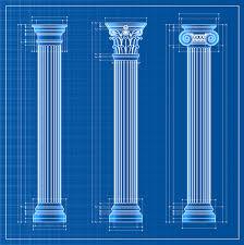 vintage columns design elements vector