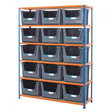 industrial 340kg large plastic storage bin shelving