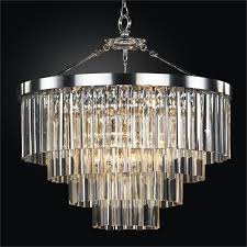 contemporary pendant chandelier with optic crystal wind chime 613dm28sp
