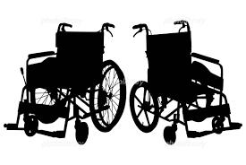 シルエット イラスト 車椅子 写真素材 399024 フォトライブラリー