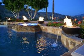 fire and water bowls poolside project contemporarypool fire water bowls5