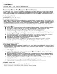 Communication Resume Examples Resumes Objective Corporate Manager