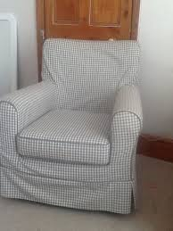 rp jenny lund ikea armchair in grey and cream check