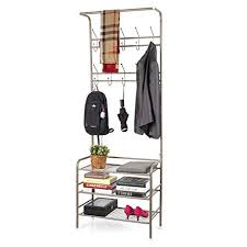 Coat Shoe Rack Impressive Amazon HOMFA Metal Entryway Coat Shoe Rack 32tier Shoe Bench