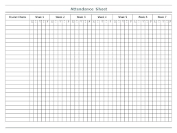 Free Printable Attendance Sheet Templates Log Book Template