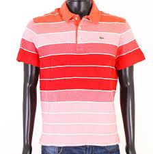 Details About T Lacoste Mens Polo Shirt Cotton Stripes Size M