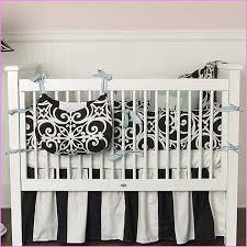 black and white striped crib bedding